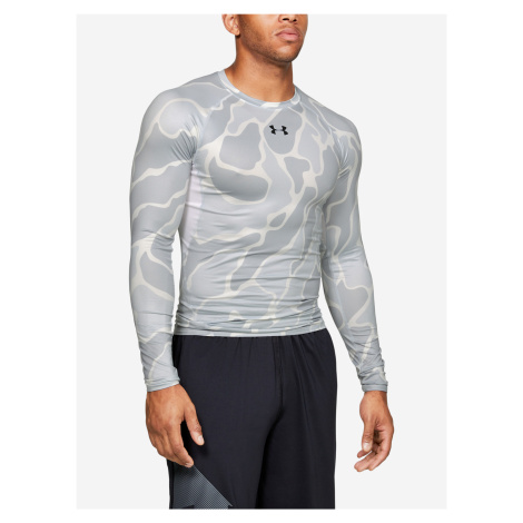 Kompresní tričko Under Armour Hg Armour Ls Nov Bílá