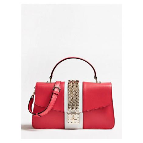 GUESS červená kabelka malá PRISMA