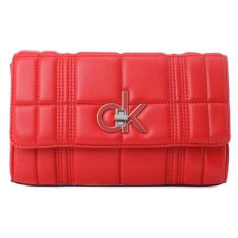 Calvin Klein dámská červená kabelka Flap