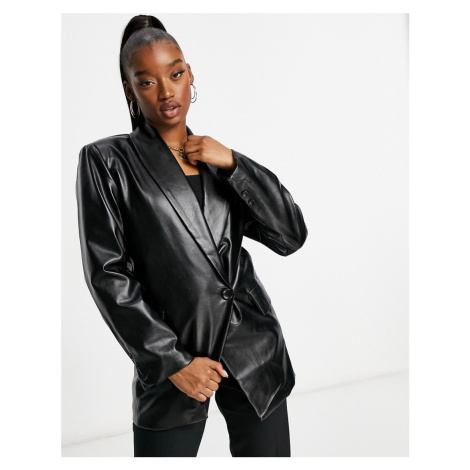 NaaNaa PU blazer in black