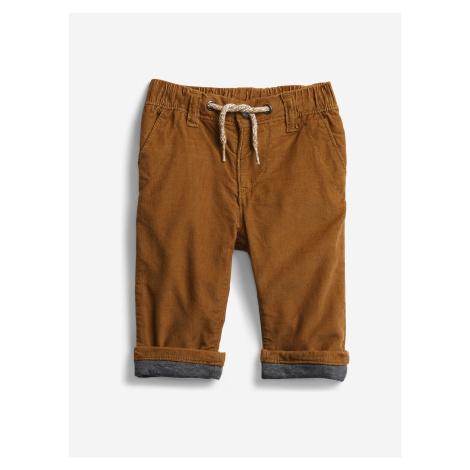 Kalhoty dětské GAP Hnědá