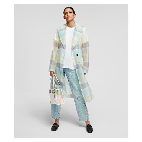 Kabát Karl Lagerfeld Organza Trench Coat - Různobarevná