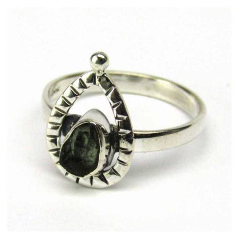 AutorskeSperky.com - Stříbrný prsten s vltavínem - S4609