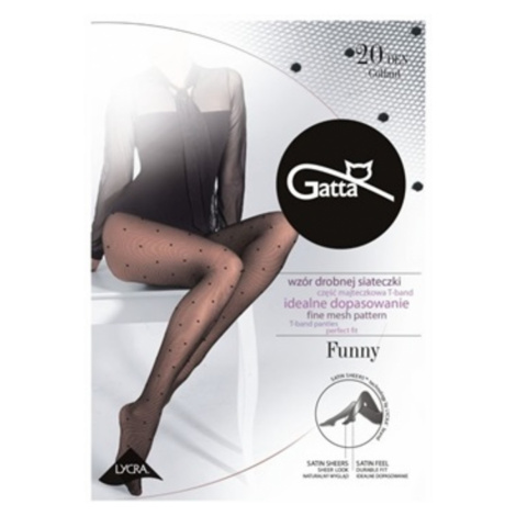 FUNNY - 05 Dámské punčochové kalhoty LYCRA - GATTA černá
