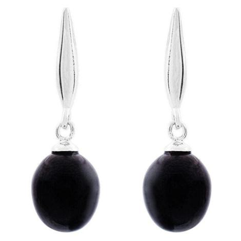 JVD Stříbrné náušnice s tmavými perlami SVLE0167SD2P500