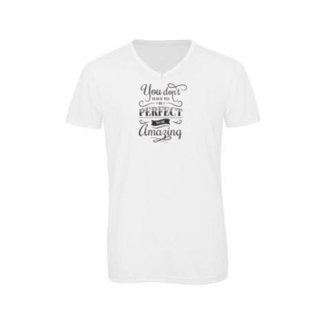 Pánské triko s výstřihem do V You don't have to be perfect