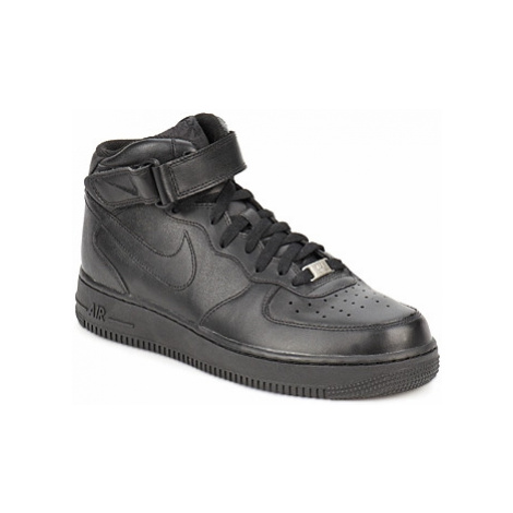 Nike AIR FORCE 1 MID 07 LEATHER Černá