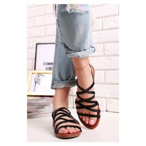Černé kožené sandály 5-28101 s.Oliver
