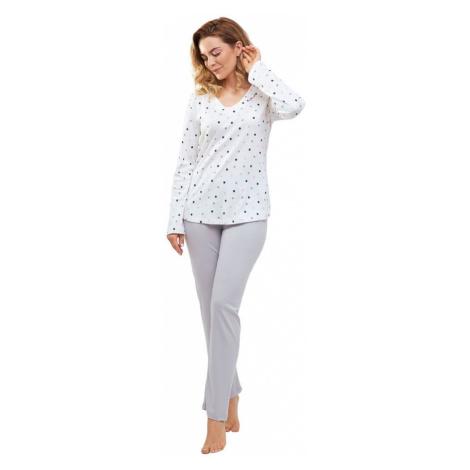 Cana Dámské pyžamo Margot s barevnými puntíky