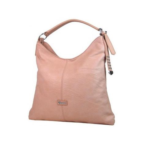 Demra Moderní velká růžová kombinovaná dámská kabelka 3753-DE Růžová