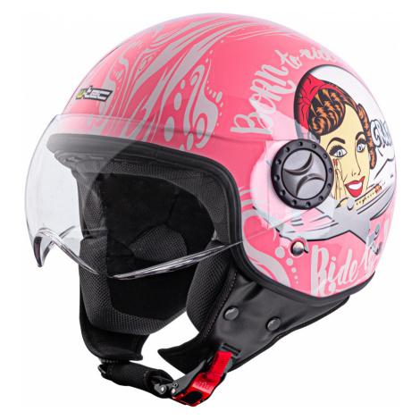 Helma Na Skútr W-Tec Fs-701Pg Pink Life Růžovo-Bílá