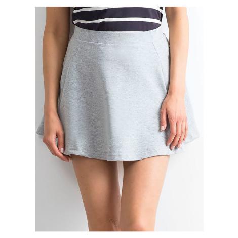 Light gray flared mini skirt