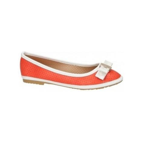 Vices Oranžové baleríny s bílým lemováním ruznobarevne