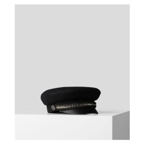 Klobouk Karl Lagerfeld Karl Captain Wool Hat - Černá