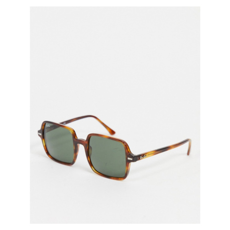 Ray-Ban womens oversized square sunglasses in brown 0RB1973