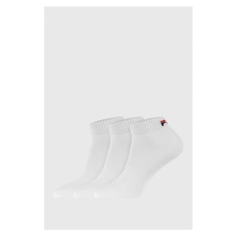 3 PACK bílých nízkých ponožek FILA