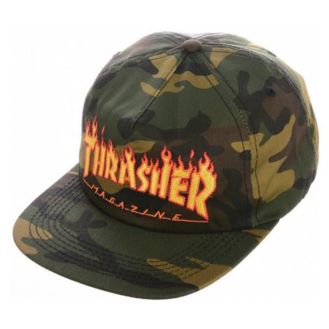 Thrasher Cap flame snapback Zelená