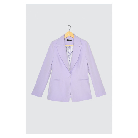 Trendyol Lilac Button Detail Blazer