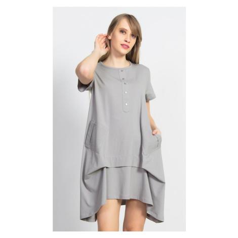 Dámské mateřské šaty Adriana, XL, šedá Vienetta Secret
