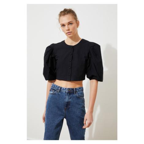 Trendyol Black Button Blouse