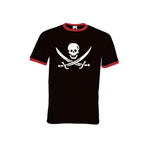 Pánské tričko s kontrastními lemy Pirát