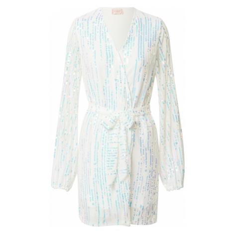 CLUB L LONDON Šaty bílá / tyrkysová