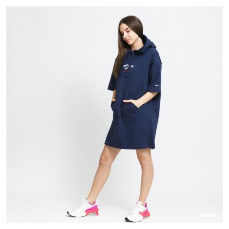 Tommy Jeans dámské tmavě modré mikinové šaty Tommy Hilfiger