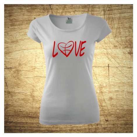 Dámske tričko s motívom Love