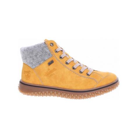 Rieker dámská zimní obuv Z4243-68 gelb kombi Žlutá