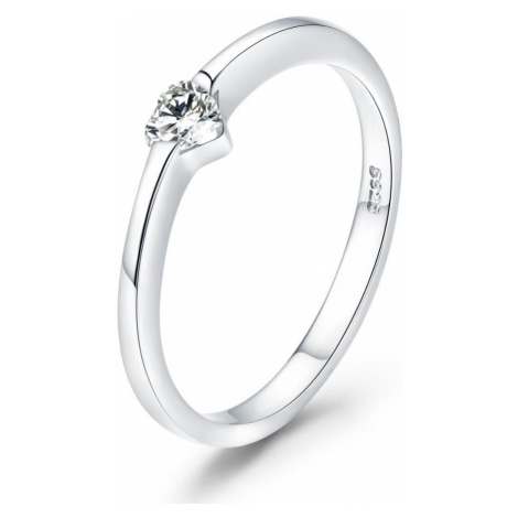 Linda's Jewelry Stříbrný prsten se Zirkonem Love IPR041 Velikost: 57