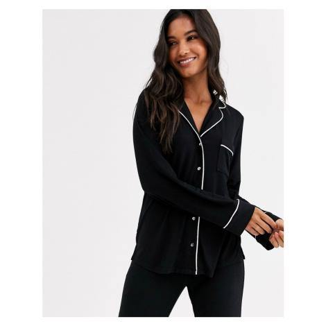 Lindex Eco Viscose soft revere pyjama top in black