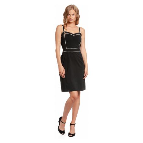 Letní bavlněné šaty černé na ramínka Vive Maria Capri