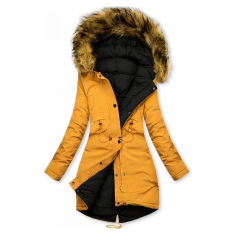 Žluto-černá oboustranná zimní bunda Butikovo