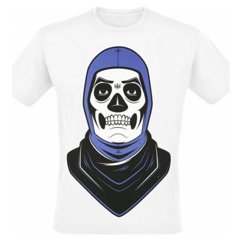 Fortnite Skull Trooper Tričko bílá