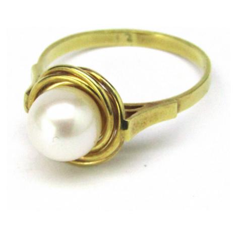 AutorskeSperky.com - 14 kt zlatý prsten s perlou -  S3249