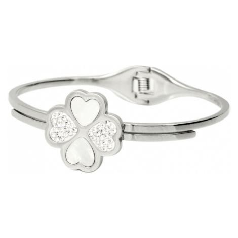 Linda's Jewelry Náramek Flower Lucky Love chirurgická ocel INR026