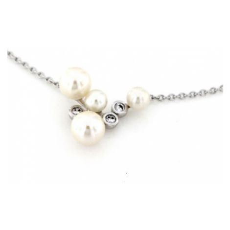 Stříbrný náhrdelník s perličkami WTN0173