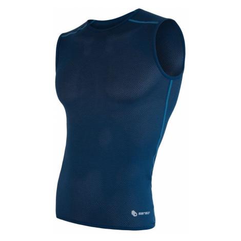 Sensor Coolmax Air pánské triko bez rukávů - modrá dark blue