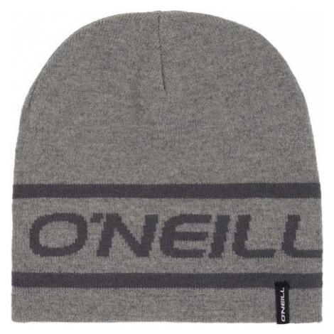 O'Neill BM REVERSIBLE LOGO BEANIE šedá 0 - Pánská oboustranná čepice