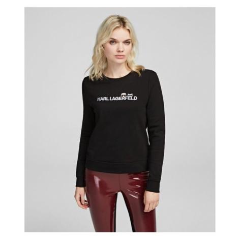 Mikina Karl Lagerfeld Ikonik & Logo Sweatshirt - Černá