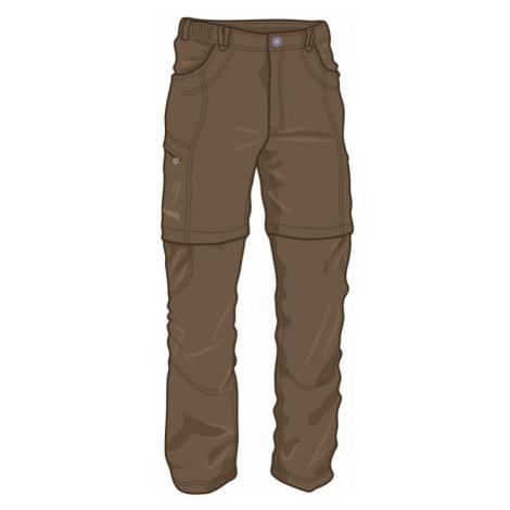 Pánské kalhoty Warmpeace Bigwash zip-off coffee brown