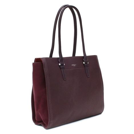 Vínově červená velká dámská kabelka do ruky Carine David Jones