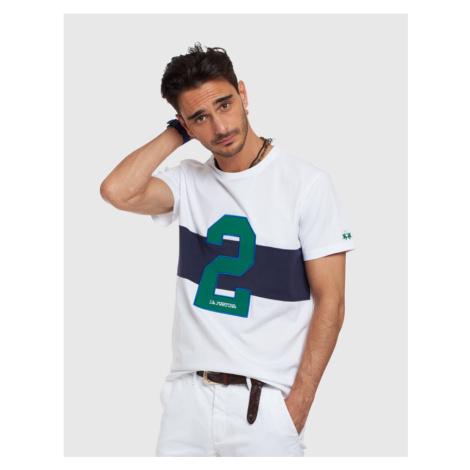 Tričko La Martina Man T-Shirt S/Sleeves Jersey - Bílá