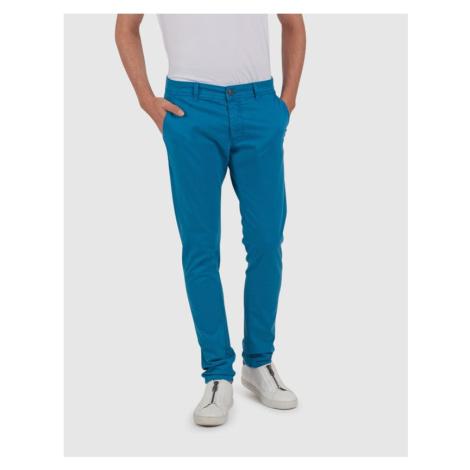 Kalhoty La Martina Chino Stretch Twill - Modrá