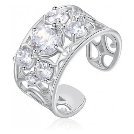 Brosway Otevřený prsten se zirkony Corinto BOI31