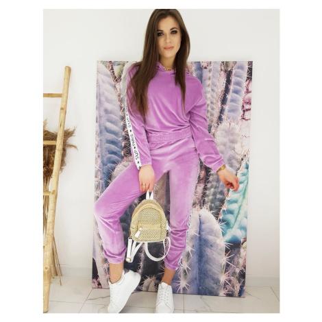 Velor women's sweatshirt set VESTA purple AY0422 DStreet