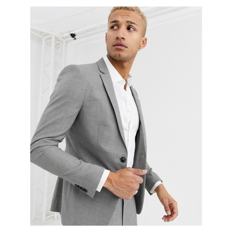 Topman skinny suit jacket in grey