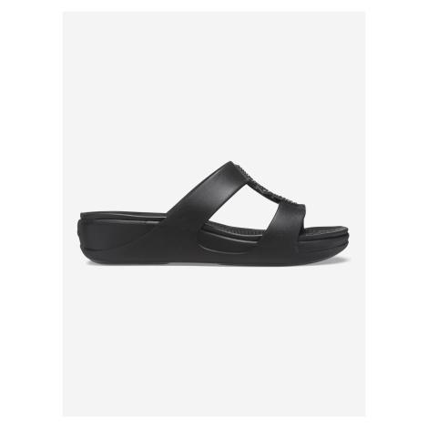 Monterey Shimmer Pantofle Crocs Černá