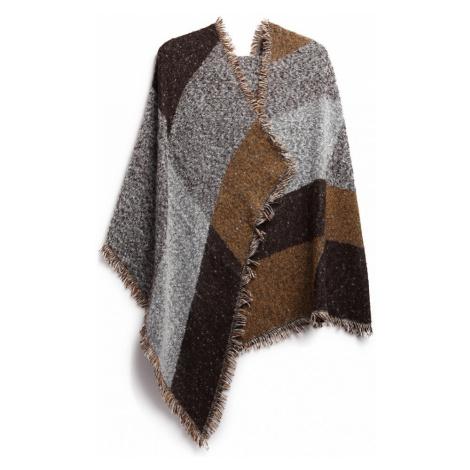 Hnědá dámská módní kostkovaná teplá šála Harper Lulu Bags