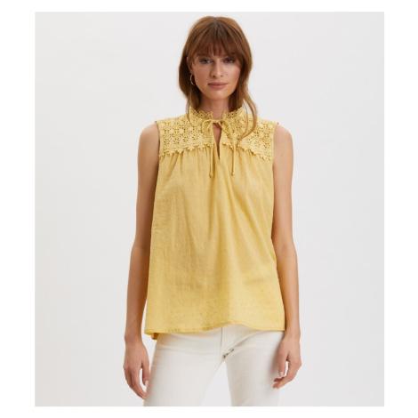 Halenka Odd Molly Finest Embroidery Blouse - Žlutá